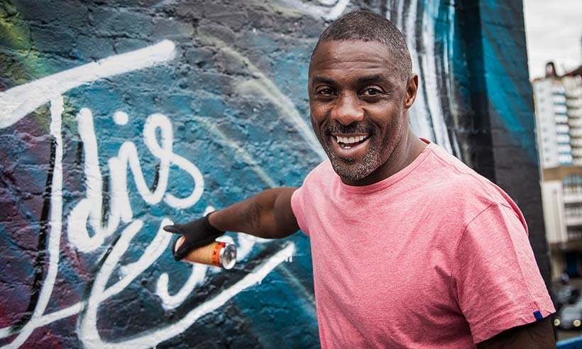 Fresh off his Emmy nomination for <em>Luther</em>, British actor Idris Elba put the finishing touches on a street mural of his <em>Star Trek</em> character 'Krall' during a photo call ahead of the release of <em>Star Trek Beyond</em>.