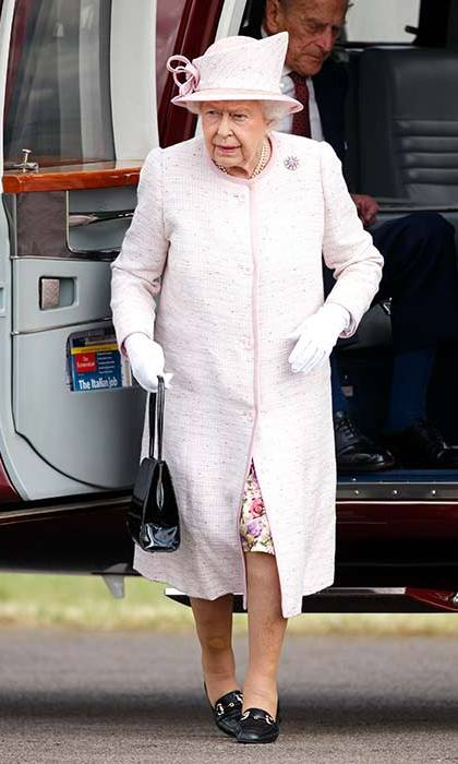 Her Majesty stepped out in a pale pink and matching hat as she opened the new East Anglian Air Ambulance base in Cambridge.