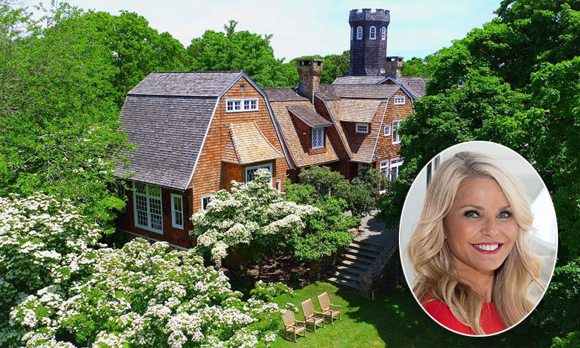 Christie Brinkley has just listed her posh Tower Hill estate in  the Hamptons for a cool USD $29.5 million. The bespoke mansion sits on more than 20 acres of land, features nine bedrooms, seven bathrooms and stunning views of the Atlantic ocean and Connecticut Shore. 