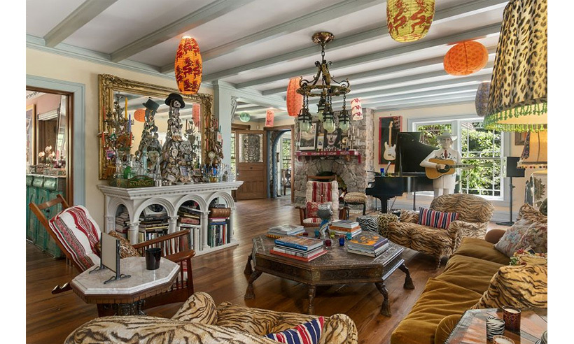 Christie's passion for shells and art are on display throughout the entire mansion. As are eccentric lamps and trinkets galore. 
