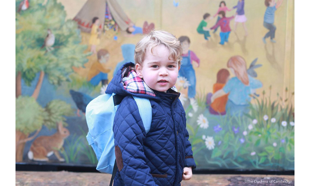 <p><strong>First day at nursery – January 2016</strong><br>