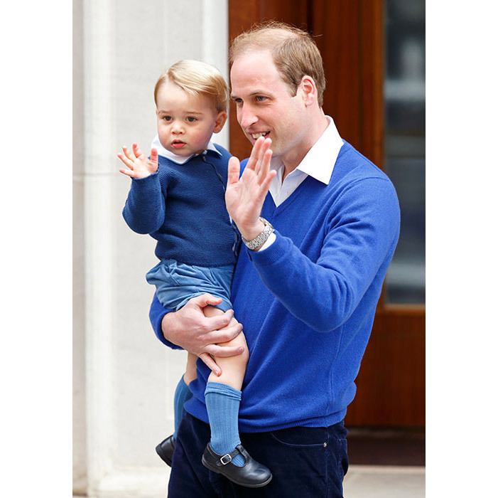 <p><strong>Meeting his sister Charlotte – May 2015
