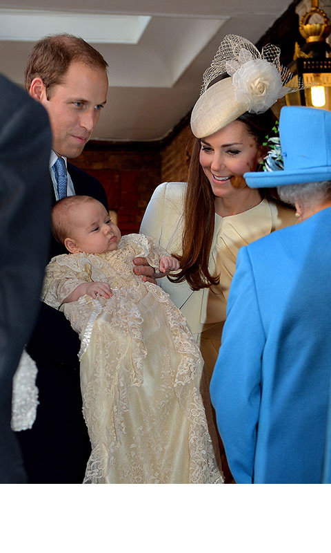 <p><strong>His christening – October 2013