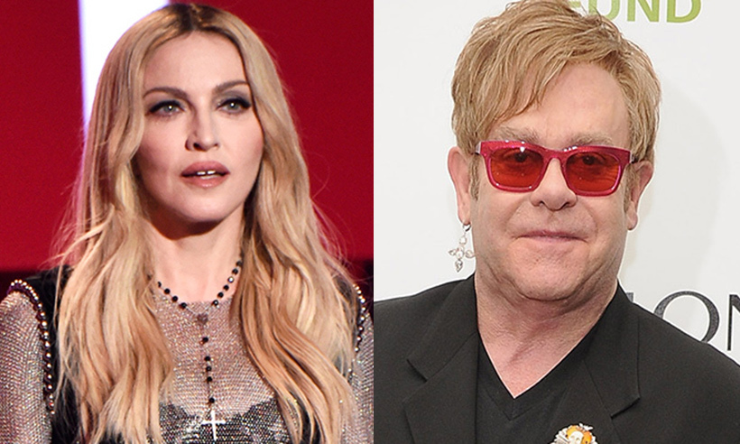 <h2>Madonna and Elton John</h2>