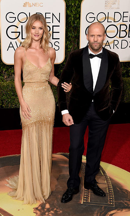 <h2>Rosie Huntington-Whiteley and Jason Statham</h2>