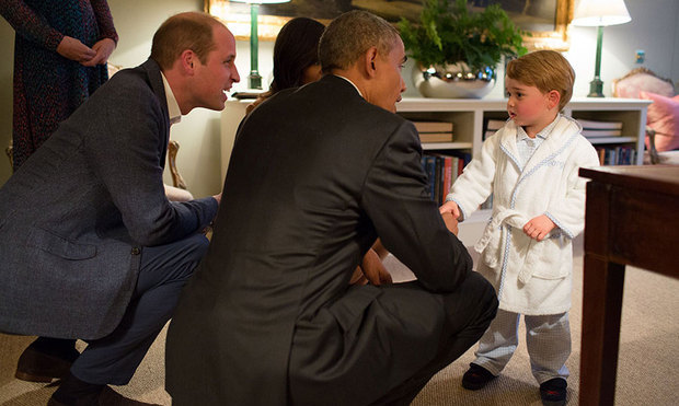 "While President Obama joked that the smart pyjama ensemble Prince George wore when they met was a ""clear breach of protocol,"" the prince's personalized robe was a runaway hit. The My 1st Years piece sells for $50 and had so many parents clamouring for a robe that it sold out in minutes. The brand told <em><strong>Hello!</strong></em> that traffic on the website was up by 500 per cent, while sales of the robe were up by a staggering 750 per cent. At the peak, the brand was selling one robe every second!
