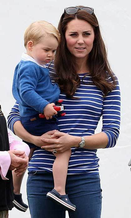 "Energetic Prince George stole the show at a polo match in which his father, Prince William, played back in the summer of 2015 - and the steady shoes in which the royal danced and ran around had moms scrambling to scoop up a pair. ""Since the HRH Prince George was spotted wearing Crocs' Crocband shoe in navy, our size 2 sold out immediately!"" Crocs' UK & Ireland Country Manager Scott Lucas told <strong>Hello! Online</strong>. ""The shoes have since become a best-seller."" Crocs also saw a 16-fold increase in sales of their shoes on online retailer site Amazon.