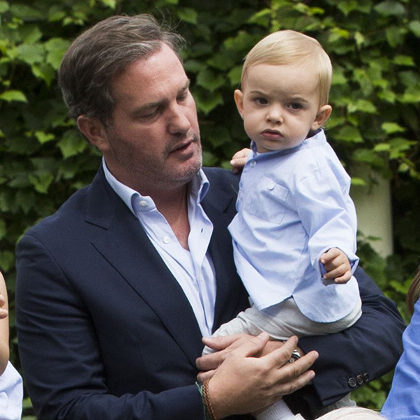 Chris O'Neill with Prince Nicolas.