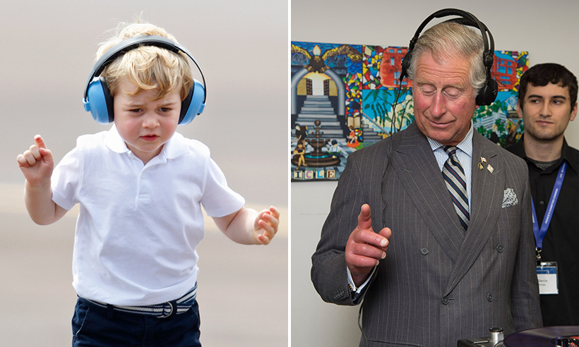 Like grandfather like grandson. George and grandpa Prince Charles love a good pair of headphones. 