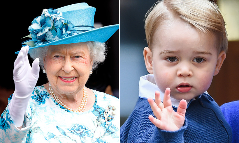 The toddler has mastered the royal wave made famous by his great-grandmother the Queen. 