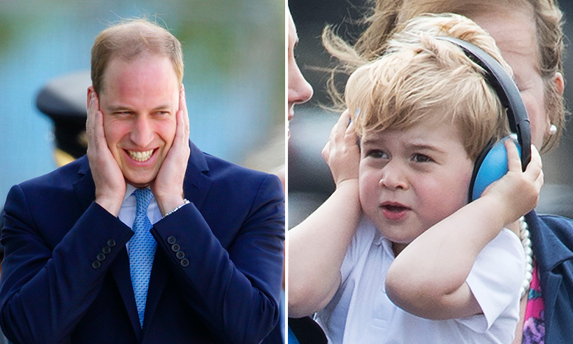 The Windsor boys have sensitive ears!