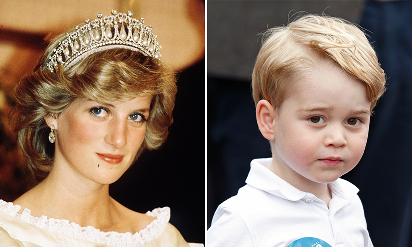 George's likeness of his late grandmother the Princess of Wales is undeniable. 