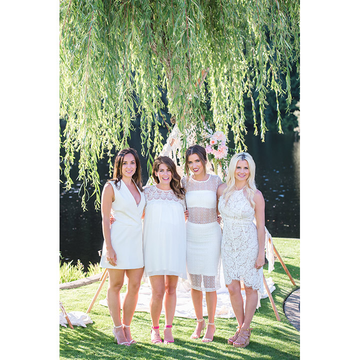 (L to R): Clio De La Llave, Jillian, Kaitlyn and event planner Aly Armstrong.