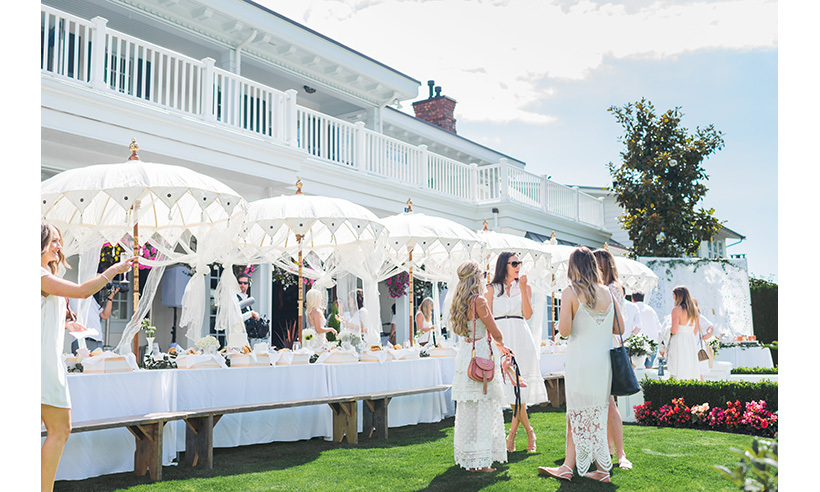 """We were mindful to create an event that captured Jillian's personality and style – glamorous with a natural and organic feel,"" says event planner Aly Armstrong, who designed the party and décor – all white with pink floral accents – in collaboration with Monika Hibbs and Shay Merritt.