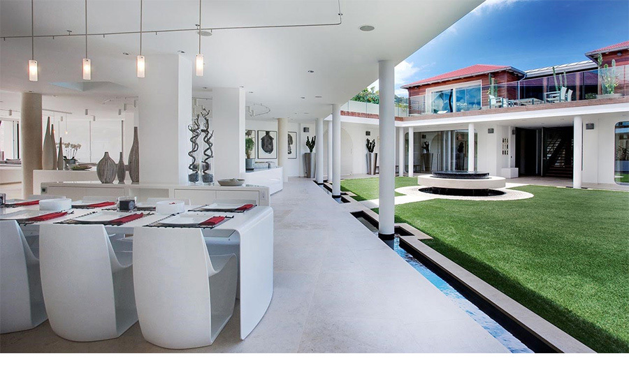 "<p>The Villa Rockstar resembles ""a hundred million dollar yacht on land"" and lives up to its name. Its 16,000 sq feet comprises north and south houses connected by a fountain courtyard and cloisters.