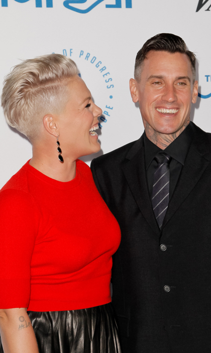 <h2>Pink and Carey Hart </h2> 