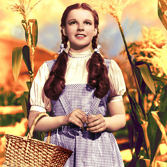 Dorothy's ruby red slippers may have won the style stakes in <em><strong>The Wizard of Oz</strong></em>, but when it came to beauty it was Judy Garland's gorgeous loose wavy pigtails which caught film fans' attention.  