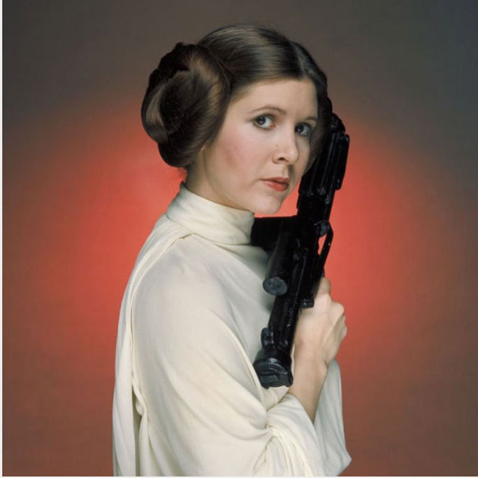 Carrie Fisher made beauty history as Princess Leia in <em><strong>Star Wars</strong></em> with her iconic bun hairdo.