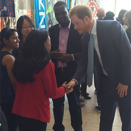 The Prince met AIDS conference youth ambassadors in South Africa following his trip to Lesotho.
