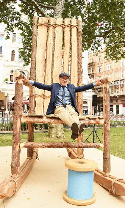 Director Steven Spielberg pulled up a chair at the premiere of <i>The BFG</i> in London. 