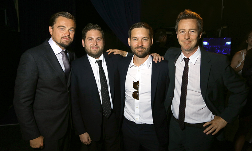 Looking good boys! Jonah Hill, Tobey Maguire and Ed Norton suited up to support Leonardo DiCaprio at his foundation's gala in Saint Tropez. The event raised more than $45 million dollars for environmental causes. 