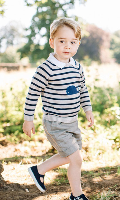 <p>Another image saw George off on an outdoor adventure and looking very grown up as he walked through the family garden.