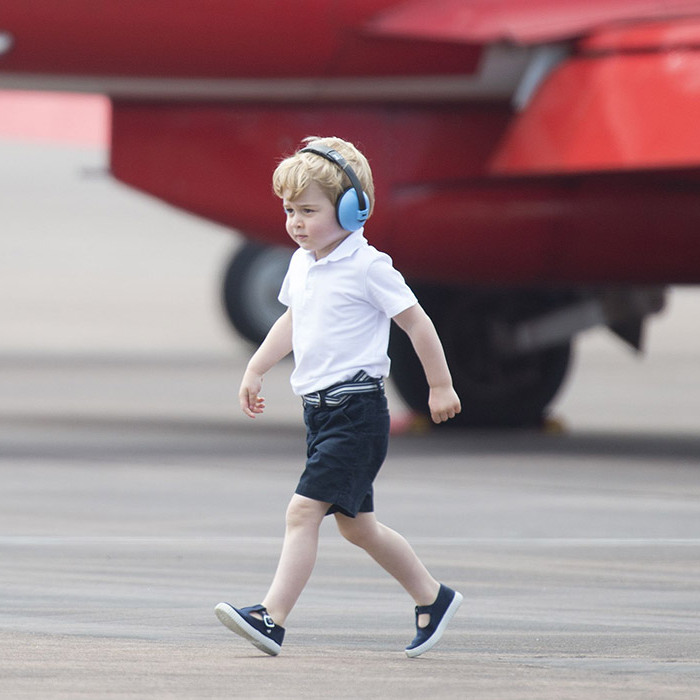<p>All little boys love airplanes, and Prince George was absolutely in his element as he attended the Royal International Air Tattoo in early July 2016 - his very first royal engagement in the UK.