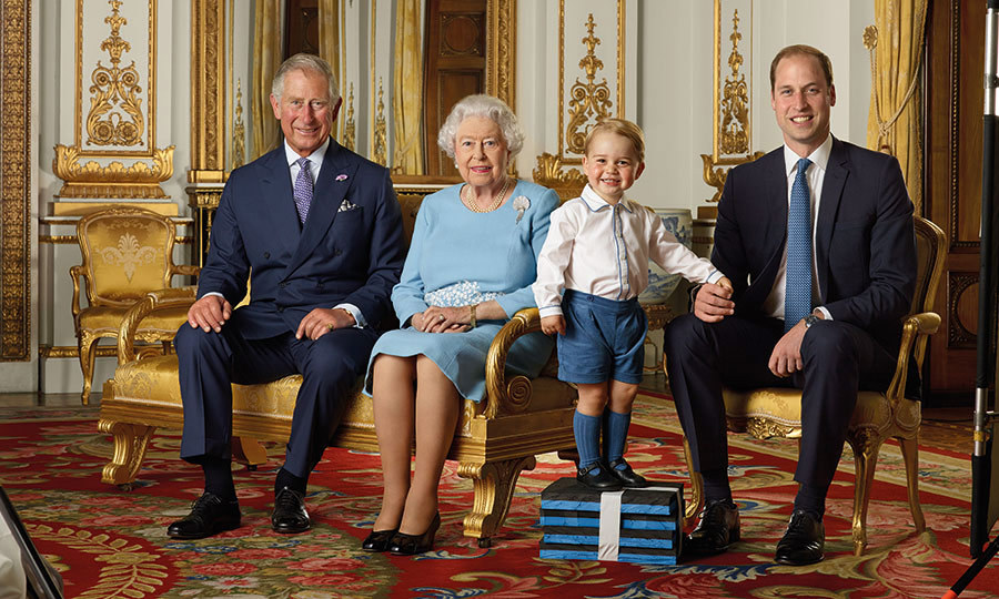 <p>Prince George was the star of a new commemorative stamp released by Royal Mail to celebrate the Queen's 90th birthday. The two-year-old holds hands with his father Prince William in the family portrait, which also features the Queen and Prince Charles to showcase four generations of the House of Windsor.