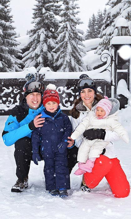 The Cambridges appeared to be having fun during the short trip, which marked their first holiday as a family of four.