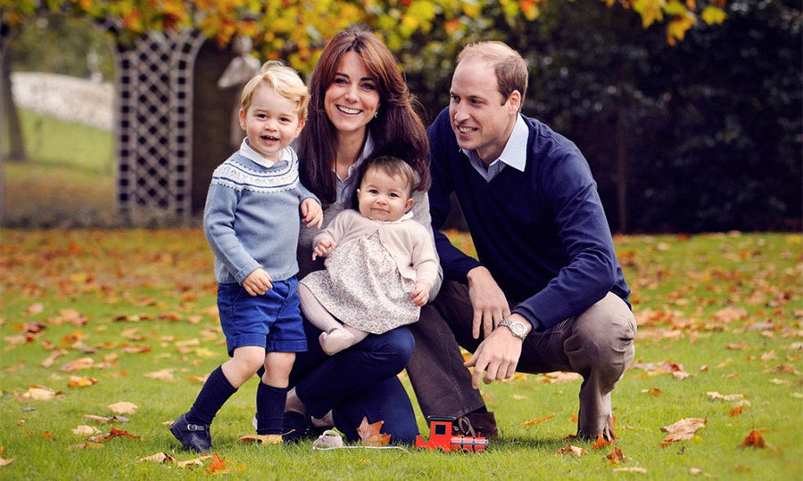The Cambridges gave fans an early Christmas present in 2015 by releasing a family photo that had been taken in the grounds of Kensington Palace by photographer Chris Jelf. It was only the second official portrait of the family of four, and George took centre stage with his playful pose while wearing blue shorts and a patterned jumper.
