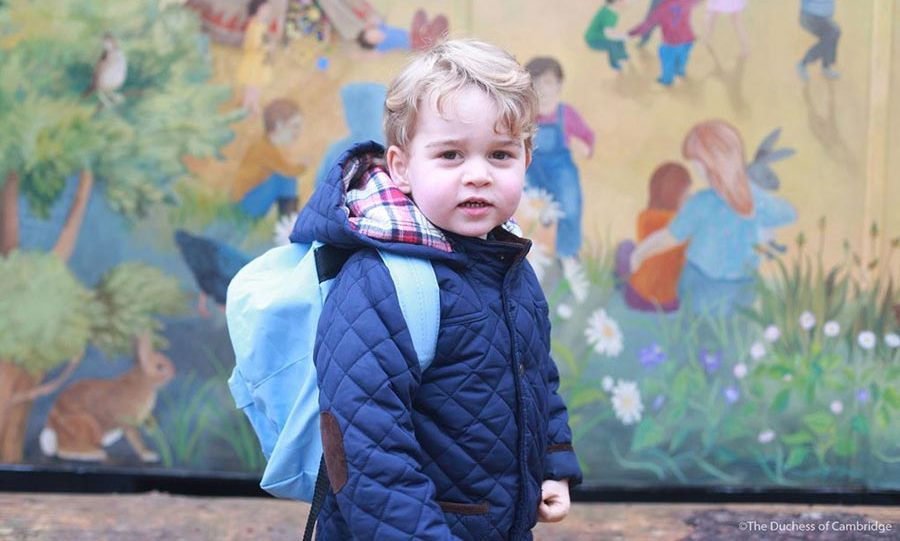 "January 2016 marked a special milestone for the Prince - his first day at nursery. George attends the Westacre Montessori School in Norfolk, and ""all went well"" as he settled in to the $57-a-day nursery.