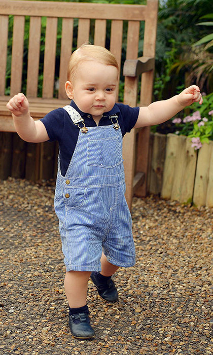 George showed he had mastered the art of walking unaided in an official photograph released ahead of his first birthday in July 2014.