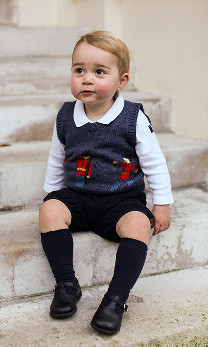 Fans marvelled at how much Prince George had grown as three official portraits were released just before Christmas 2014. The images were the first to feature Prince George on his own, and showed the 17-month-old bearing a striking resemblance to his father Prince William as he sat in an adorable navy London Guards tank top.