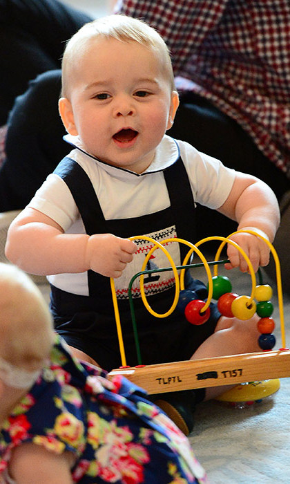 Prince George attended his very first public engagement at Government House in Wellington, where he enjoyed a special playdate with a group of children all born around the same time as him.