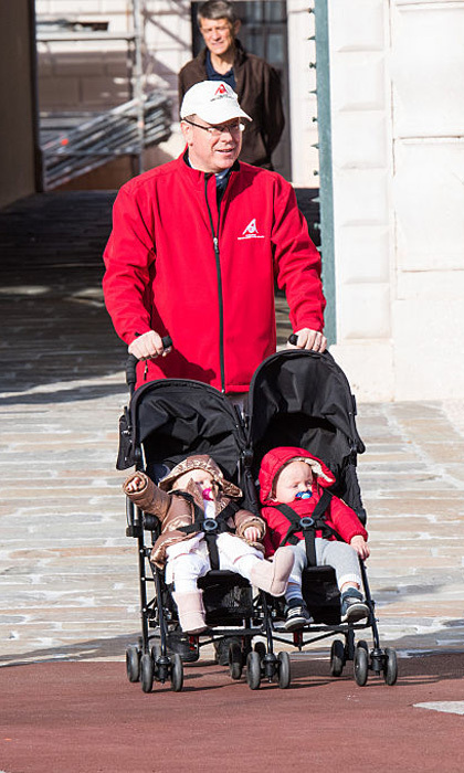 The royal said that his 19-month-old twins are happy babies.