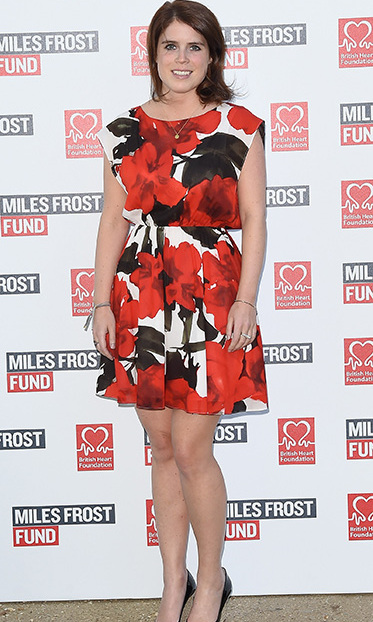 Princess Eugenie looked beautiful in this summery floral print dress while attending the The Frost family final Summer Party in aid of the Miles Frost Fund in partnership with the British Heart Foundation.