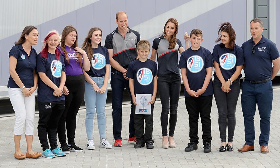 Prince William and Kate posed with members of the 1851 Trust. 