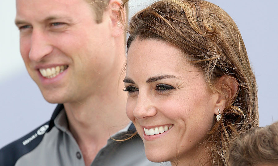 Prince William and Kate arrived in Portsmouth in matching British team tops. 