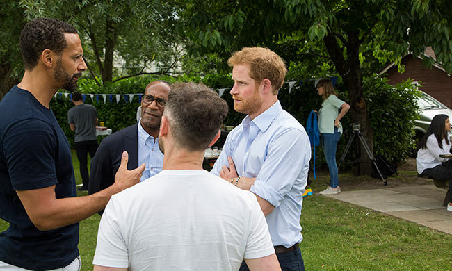 Prince Harry spoke to several sports stars about their personal struggles.