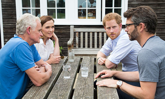 Prince Harry hosted guests at Kensington Palace.