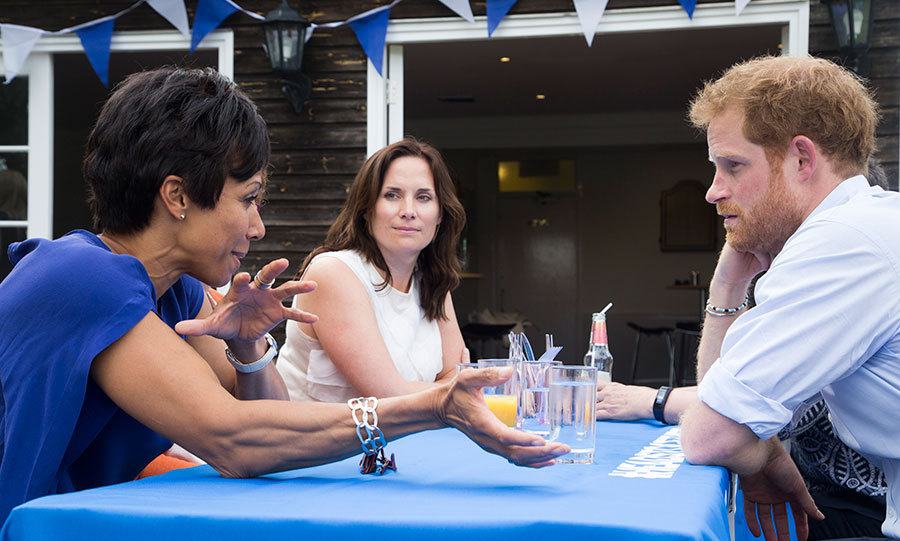 Prince Harry took the time to discuss mental health issues with the sports stars.