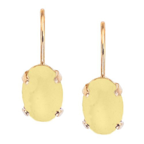 "<strong>Direct Jewelry 14 kt. Yellow Gold Oval Frosted Lemon Quartz Lever-back Earrings</strong>, $236, <a href=""http://amazon.ca"" target=""_blank"">amazon.ca</a>"