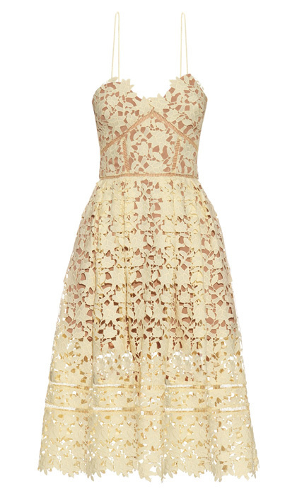 "<strong>Azaelea Dress in Yellow</strong>, $450, <a href=""http://self-portrait-studio.com"" target=""_blank"">self-portrait-studio.com</a>"