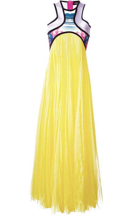 "<strong>DSquared2 Flared Dress</strong>, $3,567, <a href=""http://farfetch.com"" target=""_blank"">farfetch.com</a>"