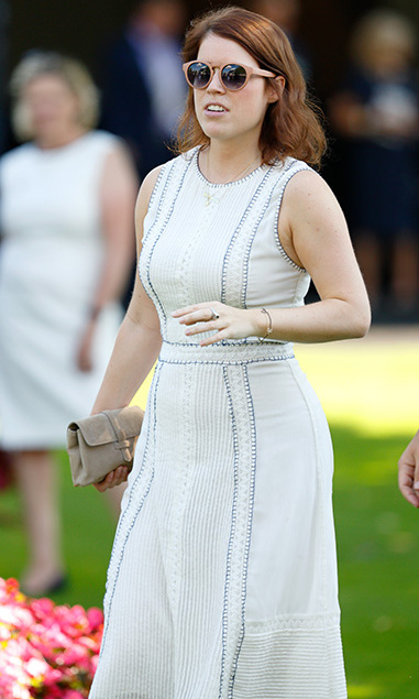 Princess Eugenie looked chic in a white summer dress.