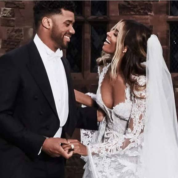 "Sharing a sweet photo of herself and her new husband together, Ciara wrote: ""You are my forever.""