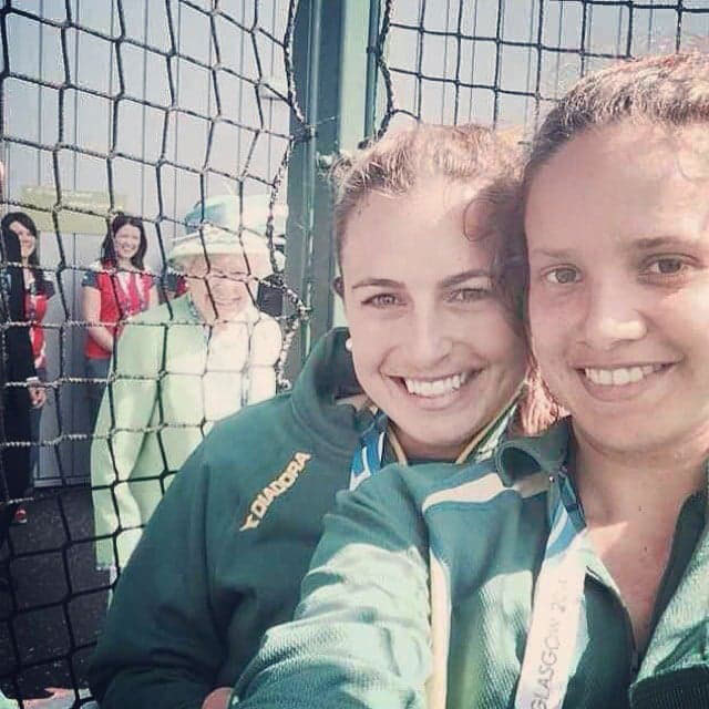 <p>When the Queen was in Scotland to meet members of Australia's Commonwealth Games hockey team in 2014, one player Jayde Taylor got more than she bargained for.