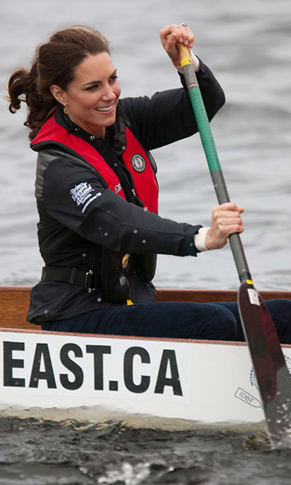 Despite losing a dragon boat race to her husband, sporty Kate looked right at home on the water in P.E.I.