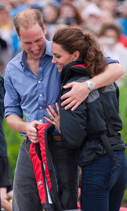 No hard feelings! Prince William was quick to patch things up with his wife after defeating her in a dragon boat race.