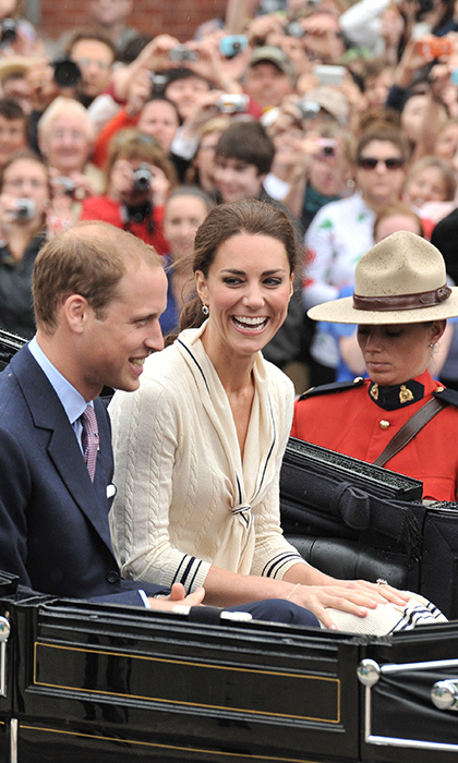 Beaming smiles on the faces of Prince William and Kate were a common theme throughout the 10-day tour. Here, they share a laugh while taking a carriage ride in Charlottetown.